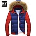 BNY Winter New Style Warm Men's Jacket Parka Thick Warm Fur Collar Long Cotton Jacket Men Comfortable Cotton Hooded Parka Men