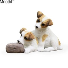 Mnotht 1/6 Jack Russell Terrier Dog Model Animal Pet Sculpture Resin Accessory Toy for Action Figure Collection Wedding Gift