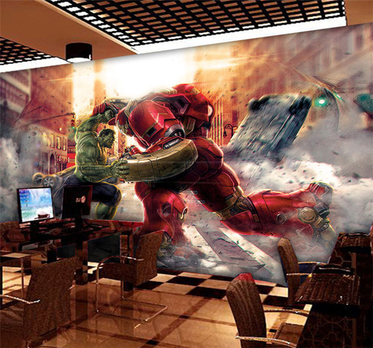 Buy custom cartoon 3d marvel hero league for Sfondi iron man