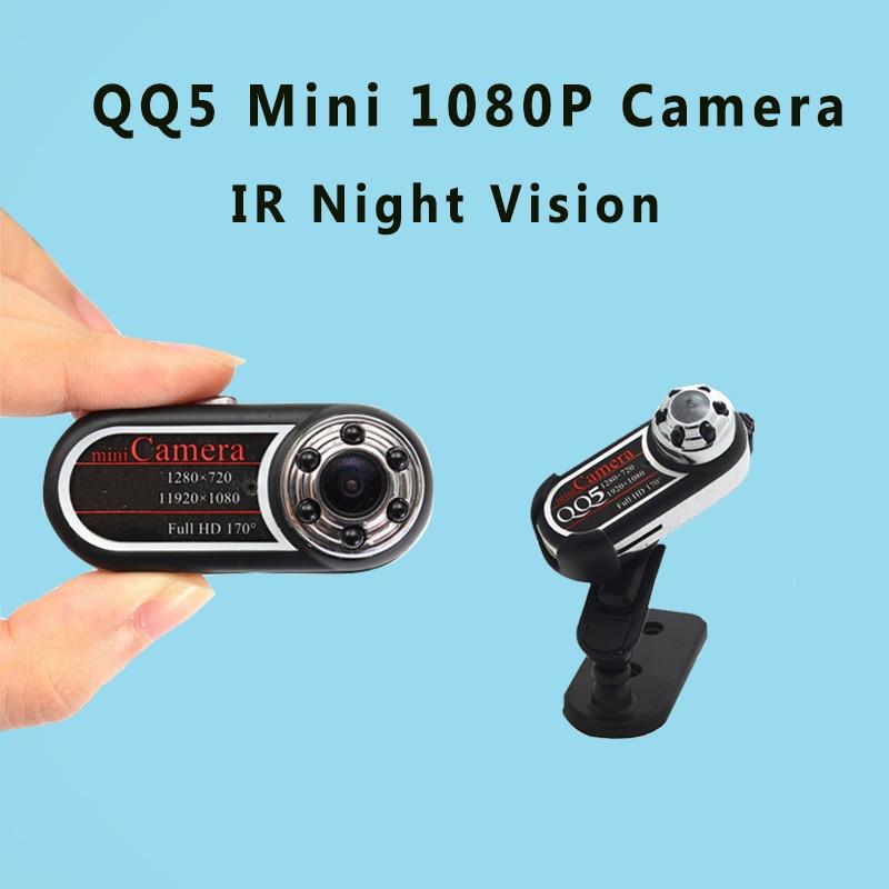 QQ5 Mini Camera Full HD 1080P 720P Infrared Night Vision DVR Camera Camcorder 12MP Webcam 170