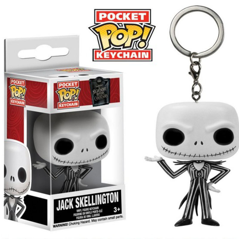 Funko Pop Pocket Pop Jack Skellington Keychain The Nightmare Before Christmas Action Figure Pumpkin King Toy