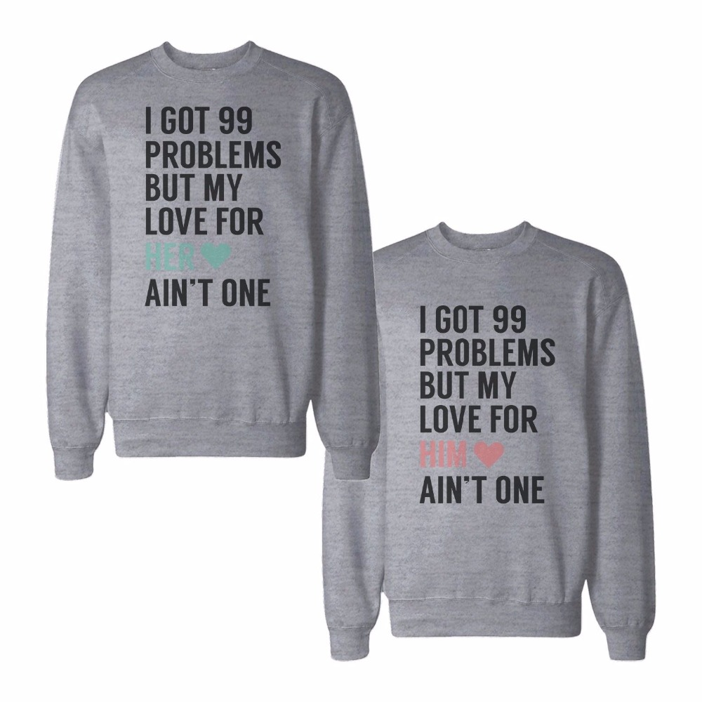 fashion xmas valentine matching couple sweatshirt. Black Bedroom Furniture Sets. Home Design Ideas