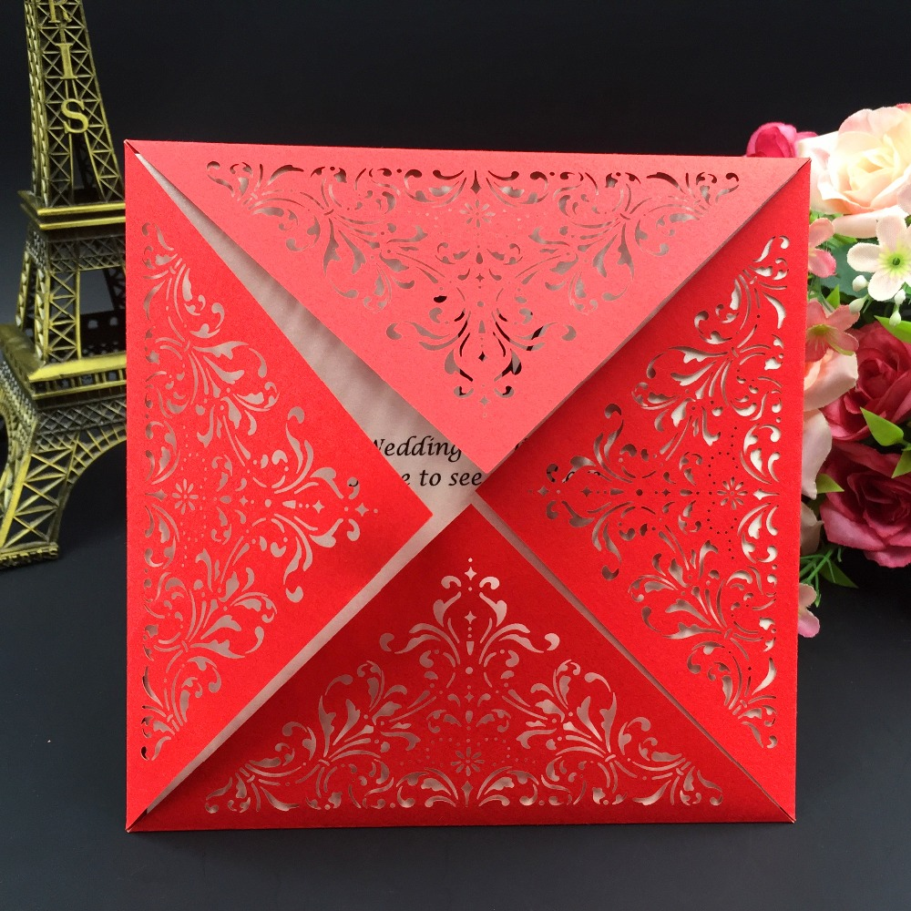 50pcs Wedding Invitations Cards Laser Cut Ramadan