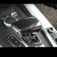 Carbon Fiber Car Console Gear shift knob head Frame cover trim sticker for Audi A4 A5 A6 A7 Q5 Q7 S6 S7 Car styling Accessories