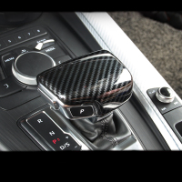 Carbon Fiber Car Console Gear shift knob head Frame cover trim sticker for Audi A4 A5 A6 A7 Q5 Q7 S6 S7 Car styling Accessories