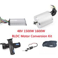 Electric Bike Umbausatz Kit 48V 1500W 1600W BLDC Brushless Motor Set Electric Bicycle Scooter With Speed Controller Throttle