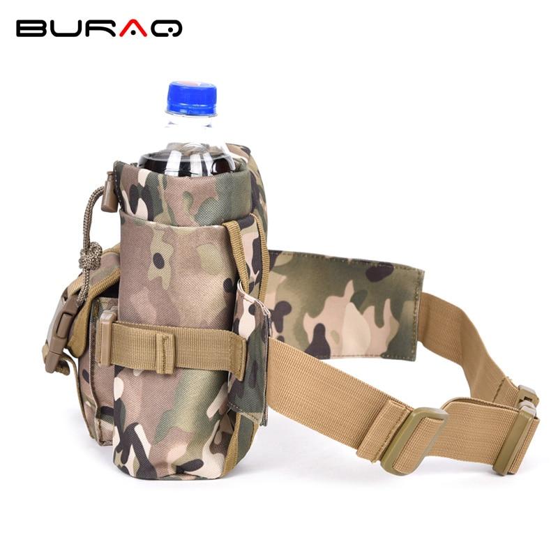 Militare Nylon Della Pacchetto cp Sacchetto Con Cp Black Tattico Campeggio Outdoor Trekking Bottle Holder Molle Vita Camouflage Spalla Del brown fggq5AI