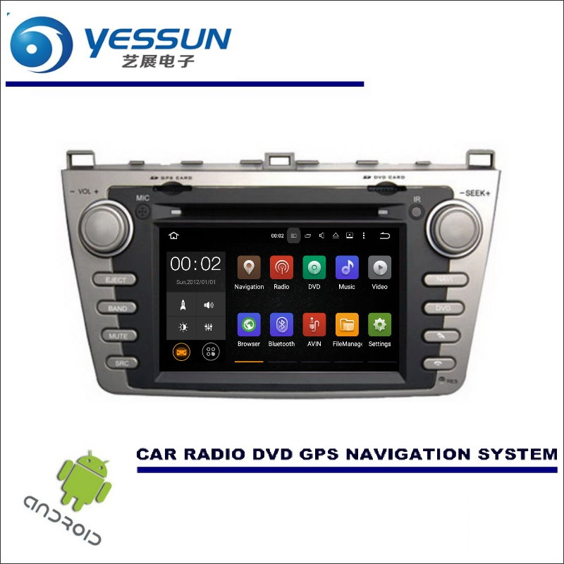 YESSUN Car Multimedia Navigation Android System For Mazda 6 GH1 / Ruiyi / Ultra 2007~2012 CD DVD GPS Player Navi Radio Stereo yessun for mazda cx 5 2017 2018 android car navigation gps hd touch screen audio video radio stereo multimedia player no cd dvd