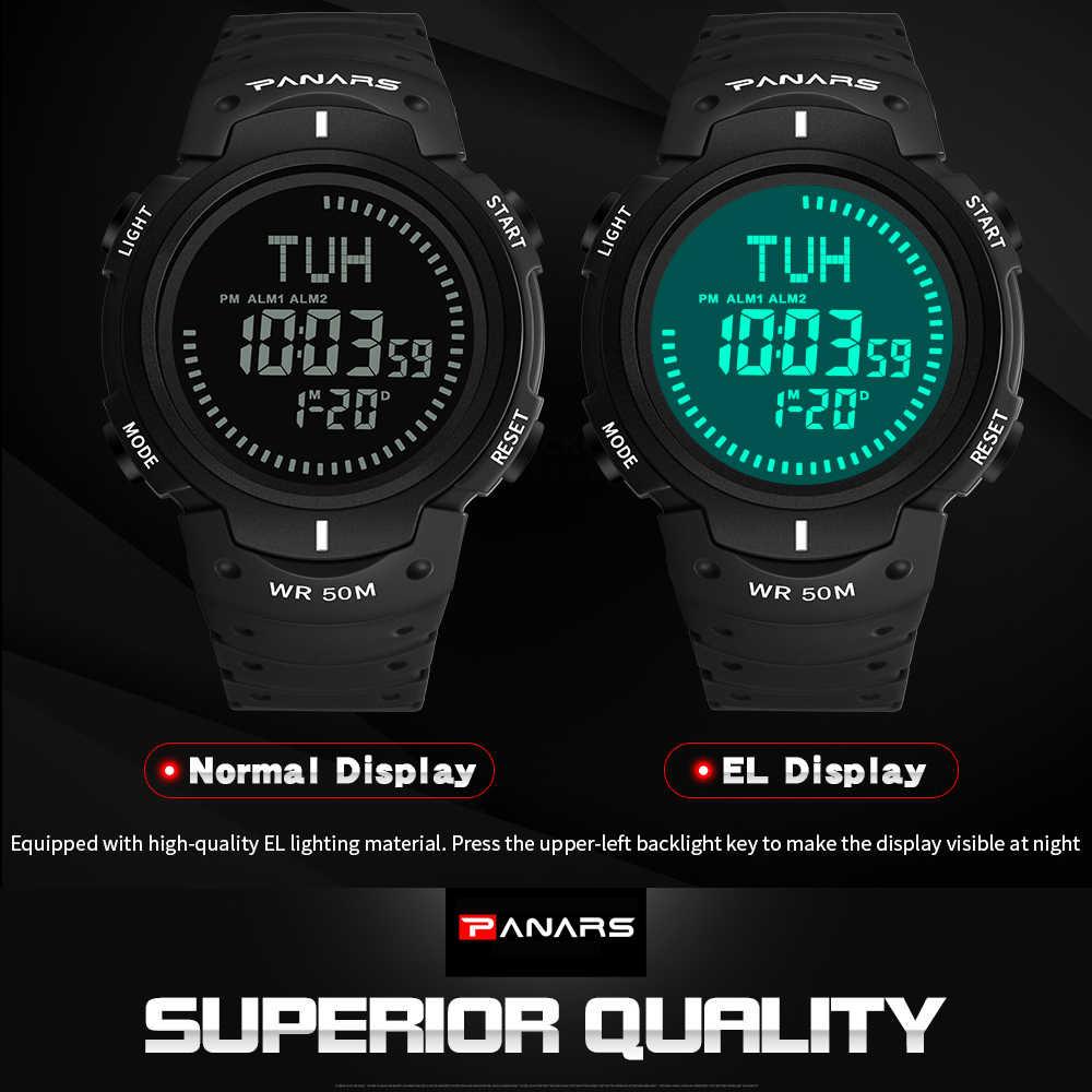 PANARS Militar Relógios Desportivos Bússola Pedômetro Calorias Relógio Masculino Digital À Prova D' Água Relógios Eletrônicos Homens Wristwatc