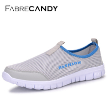 FABRECANDY Fashion Men Casual Shoes Breathable Mesh Loafers Casual Shoes Men 2017 SUMMER Plus Size 34