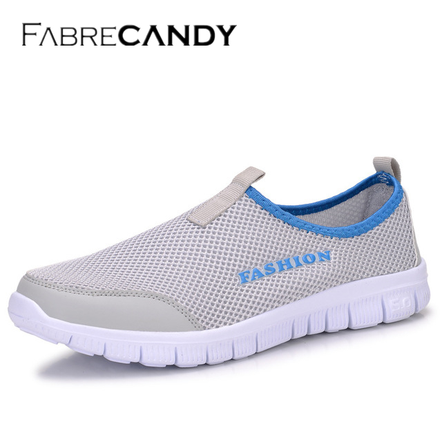 FABRECANDY Mode Hommes Casual Chaussures Respirant Maille Mocassins Casual Chaussures Hommes 2017 ÉTÉ Plus La Taille 34-46 Hommes unisexe amant Chaussures