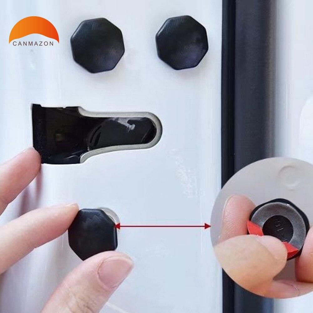For Hyundai Tucson Elantra Creta IX25 IX35 45 Sonata 9 10 Solaris Santafe Car Door Lock Screw Protector Cover Accessories 12PCS