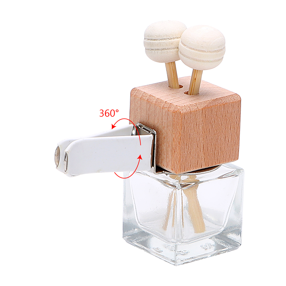Image 5 - FORAUTO Air Freshener Ornament Perfume Bottle Pendant Essential Oils Auto Car Perfume Bottle Hanging Glass Bottle Car styling-in Air Freshener from Automobiles & Motorcycles