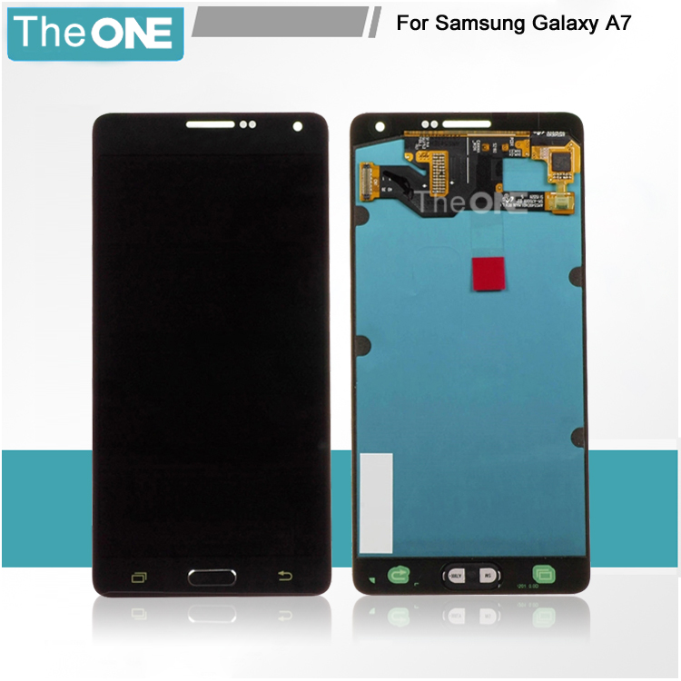 5 pcs/lot tested replacement repair parts 5.5 inch screen for samsung A7 SM-A700 lcd display with touch digitizer assembly