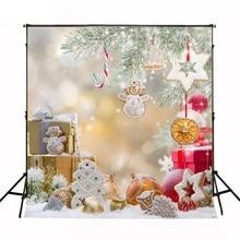 5ft * 7ft Fundos Crianças da Neve do Inverno Do Natal Presentes de Para Estudio Fotografico Fundo Da Foto Backdrops