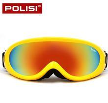 POLISI Invierno Hombres Mujeres Anti-Vaho gafas de Motos de Nieve Ski Snowboard Skate Goggles Gafas UV400 Esqui Esquí Deporte Al Aire Libre Eyewear