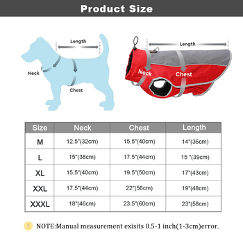 Warm Dog Clothes Pet Jacket Waterproof Winter Pet Clothes for Large Dogs Reflective Pet Clothing Coat for French Bulldog 5