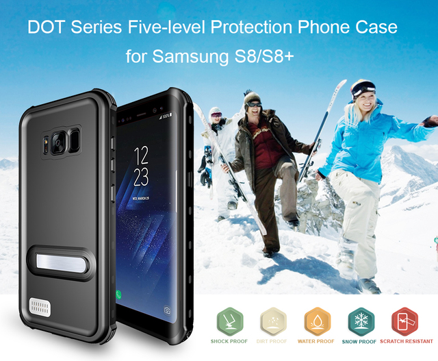 online store af034 5d715 US $17.99 |Redpepper Case PC For Samsung S7 S7edge S8 S8Plus New Waterproof  Case Pro On Back Cover Charge For Samsung S8 S8Plus on Aliexpress.com | ...