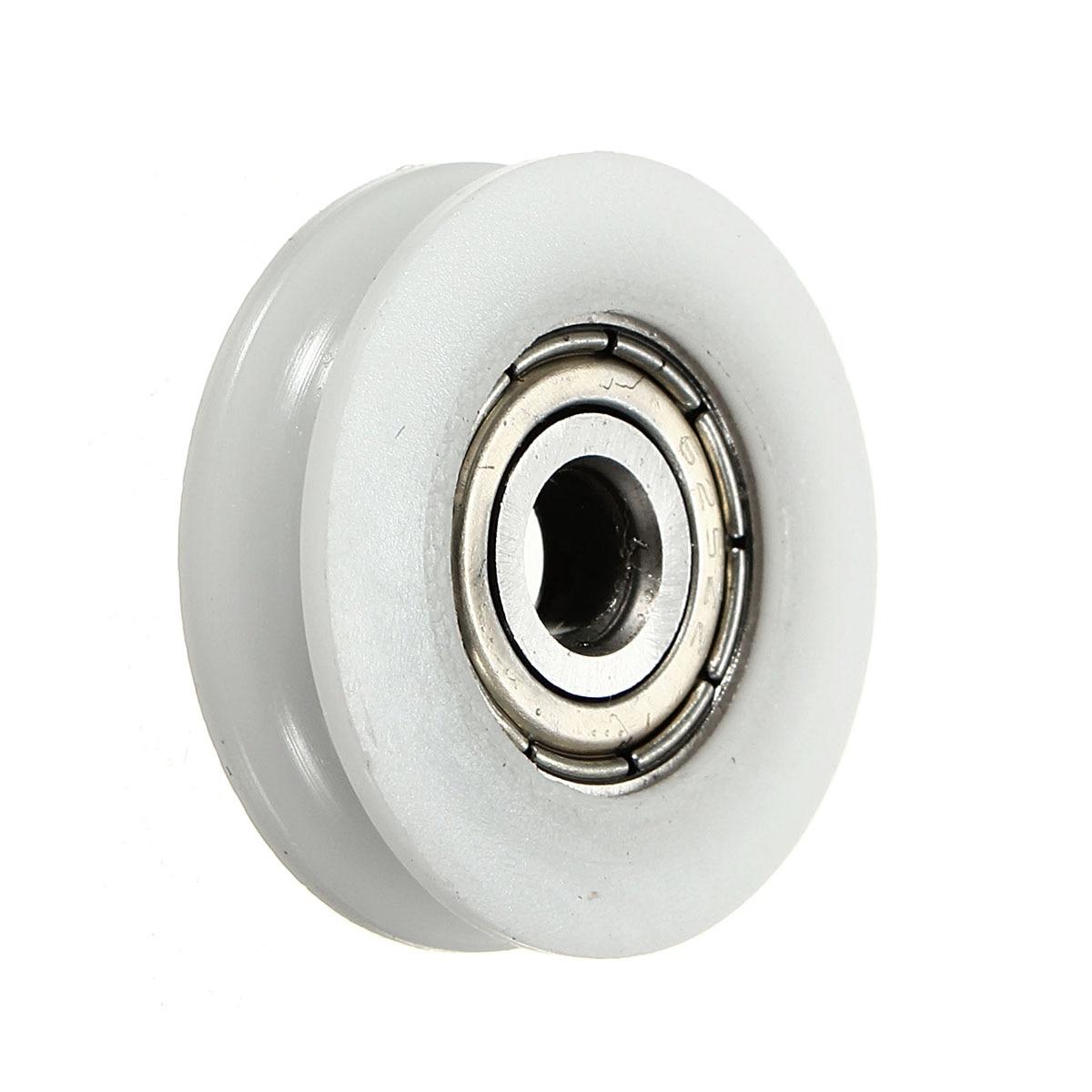 New 6*30*10mm U Groove Metal Shield Nylon Pulley Wheels Roller Ball Bearings HI
