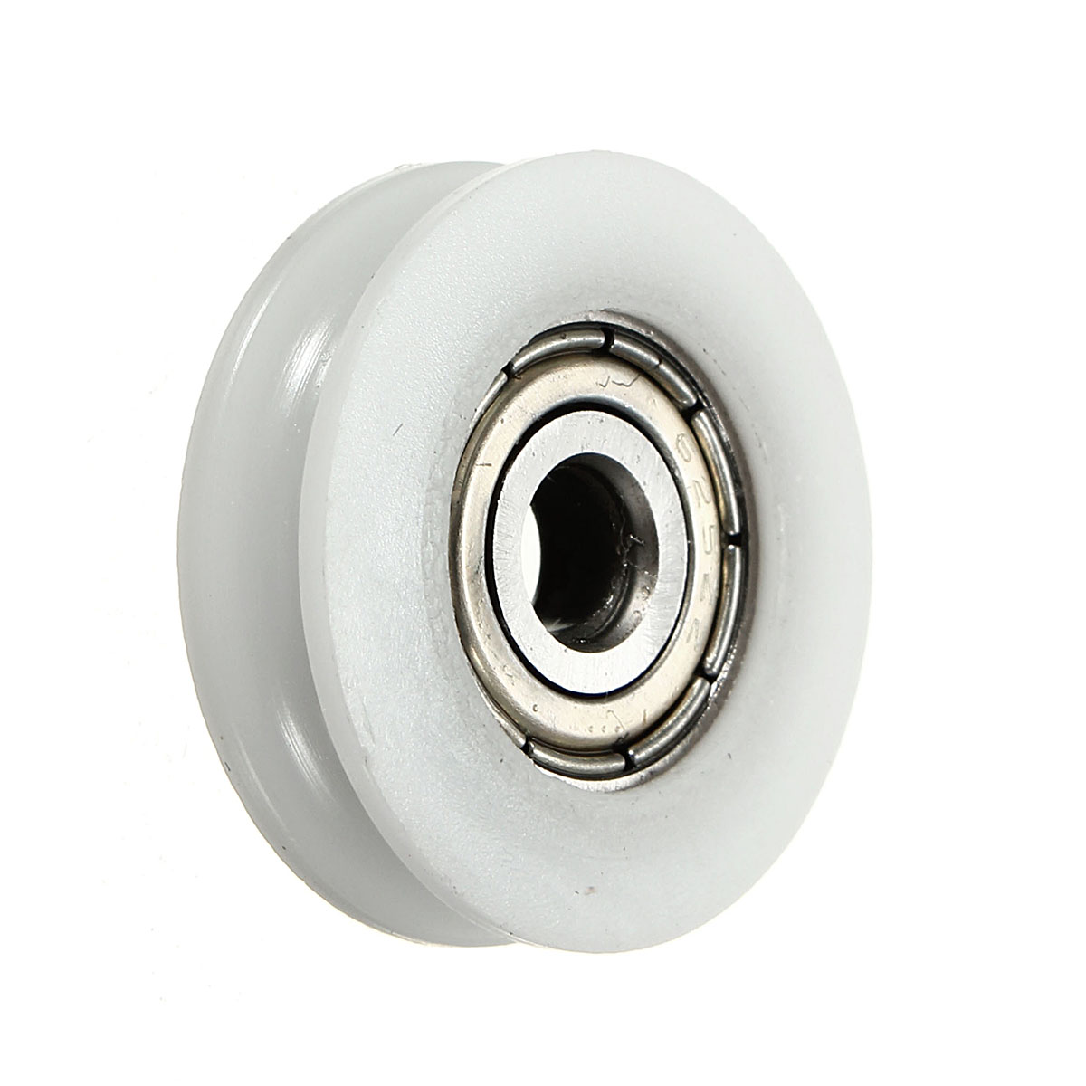 5//8mm Hole Nylon Plastic Embedded Y Groove Bearing Guide Pulley Carbon Steel