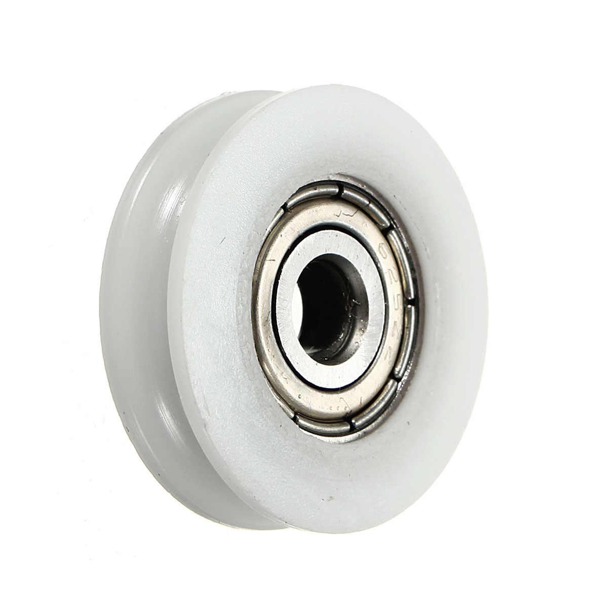 ラウンド溝ナイロンプーリーホイールローラー高炭素鋼 U 溝プーリーボールベアリングスライド柔軟な
