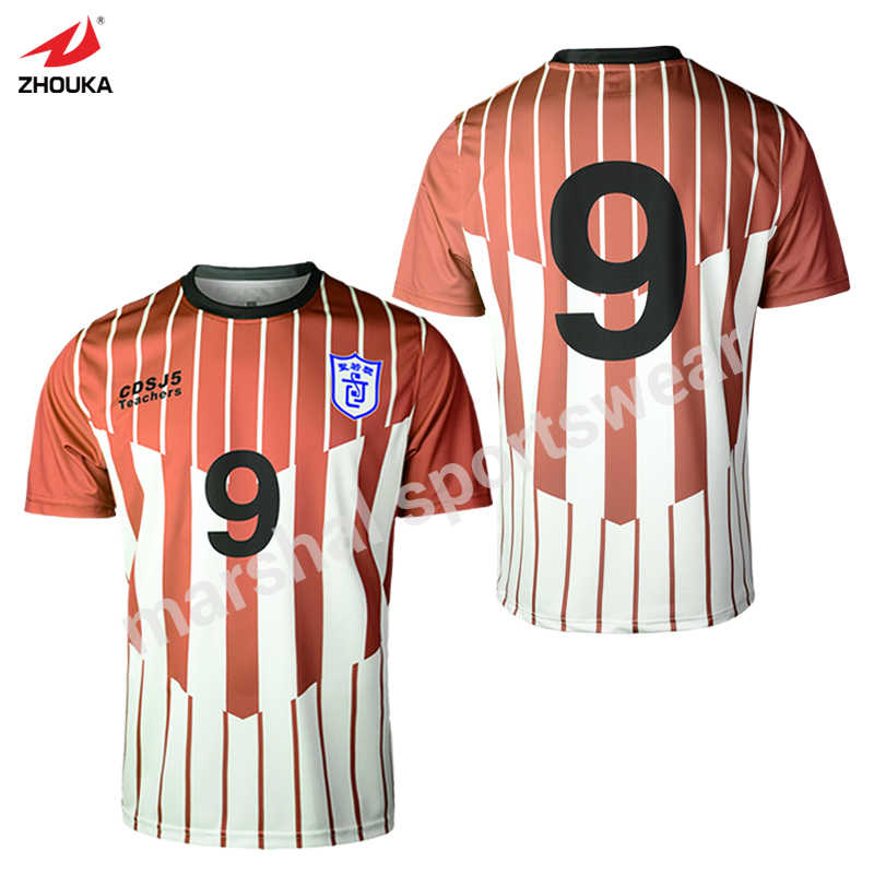 eb68d9ed5ad Camisetas Retro personalizadas de sublimación completa OEM cualquier patrón  de Color camiseta de fútbol a rayas