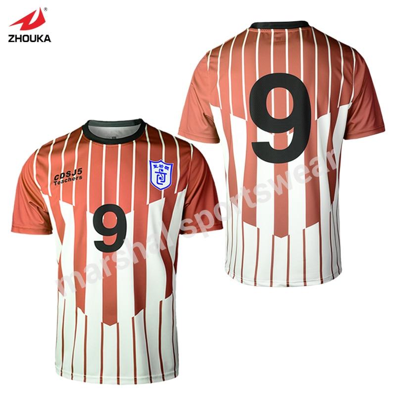 eaaf0b391 Full Sublimation Custom Retro Jerseys Tshirt Oem Any Color Pattern Soccer  Jersey Striped Thailand Football