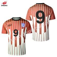 full sublimation custom retro jerseys tshirt OEM any color pattern soccer jersey striped thailand football shirts maglia calcio