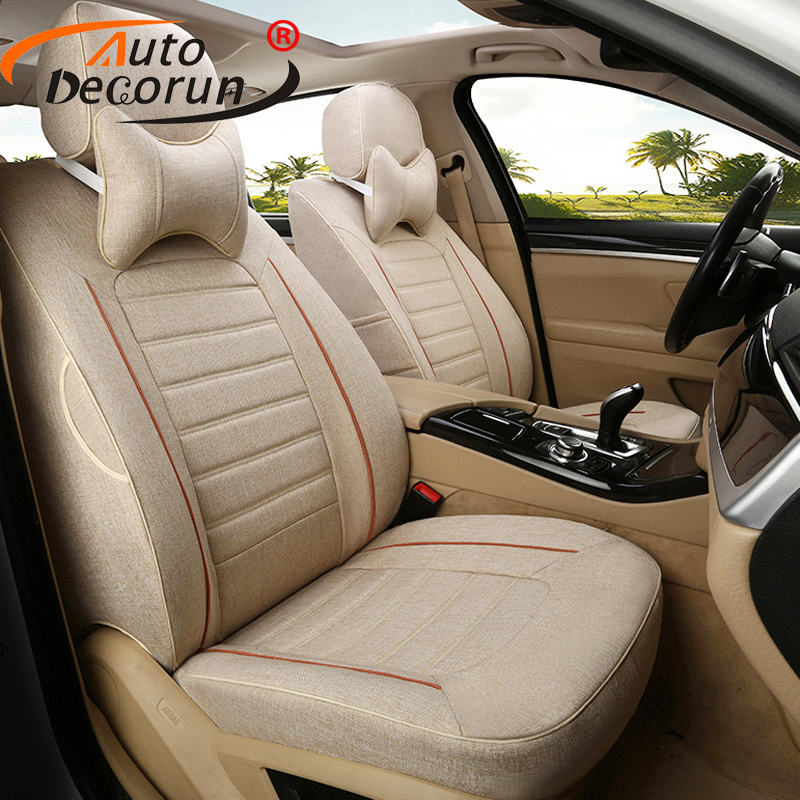 AutoDecorun Custom Cover Seat for Renault Koleos 2009 Accessories Cars Seat Set Covers Linen Fabric Car Seat Supports Protection