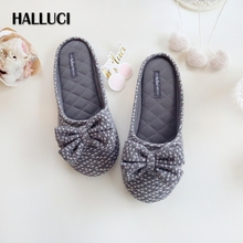 HALLUCI summer fresh sweet shoes women home slippers sandals pantufas black sexy flip flops cotton office slippers women slides