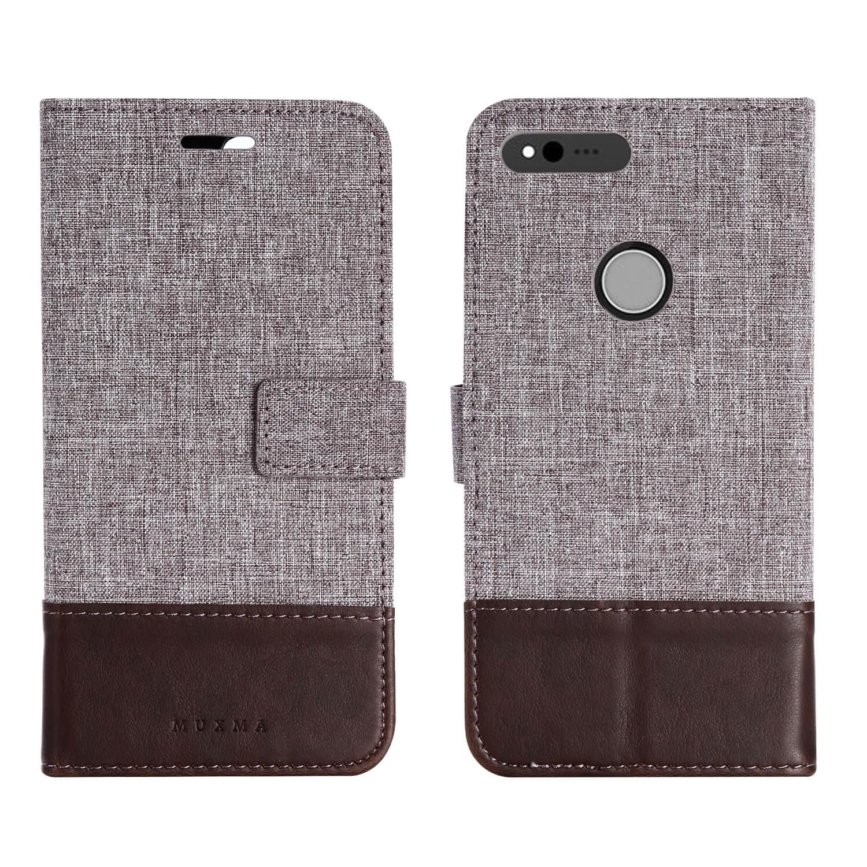 Mooshion Slim Flip Case For Google Pixel XL Case Luxury Full Body Leather TPU Protective Case For Google Pixel XL Cover Wallet