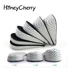1 пара стельки для обуви, дышащие половинные стельки, увеличивающие рост, спортивная обувь, подушка, унисекс, 2-4 см, стельки для увеличения роста