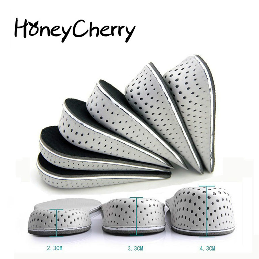 1 Pair Shoe Insoles Breathable Half Insole Heighten Heel Insert Sports Shoes Pad Cushion Unisex 2-4cm Height Increase Insoles expfoot orthotic arch support shoe pad orthopedic insoles pu insoles for shoes breathable foot pads massage sport insole 045