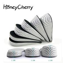 1 para wkładki do butów oddychająca pół wkładka wysokość wkładka wkładka do butów sportowych poduszka Unisex 2-4cm wysokość zwiększ wkładki tanie tanio HoneyCherry 1 cm-3 cm Średnie (b m) Stałe Oddychające Wysokość zwiększenie