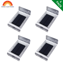 4PCS SL 10P XINREE Outdoor Waterproof Super Bright Motion Sensor Solar Light 16 LED Waterproof Energy
