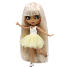 Hair Naked-Doll Blonde Bjd Face-Shining Joint-Body Matte ICY Toy Dark-Skin 30cm Factory