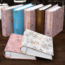 6 Inch Album Large Capacity Leather Photo Album DIY Commemorating Baby Friends Family Floral Album цена и фото