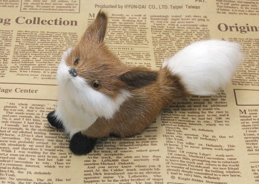 Artificial fox decoration wild animal dolls small fox small gift