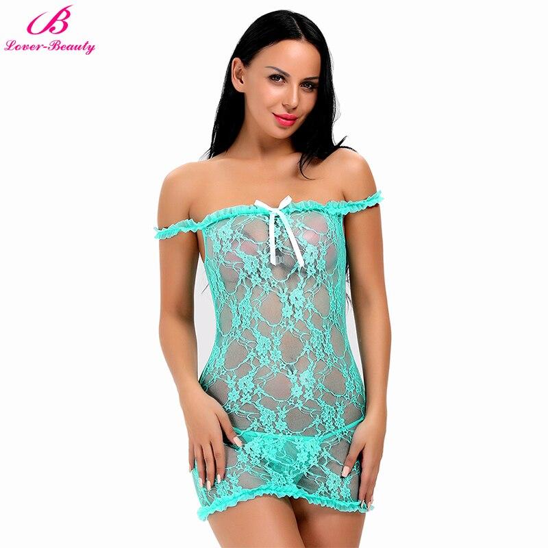 Lover Beauty Women Lingerie Halter Chemise Lace -7761