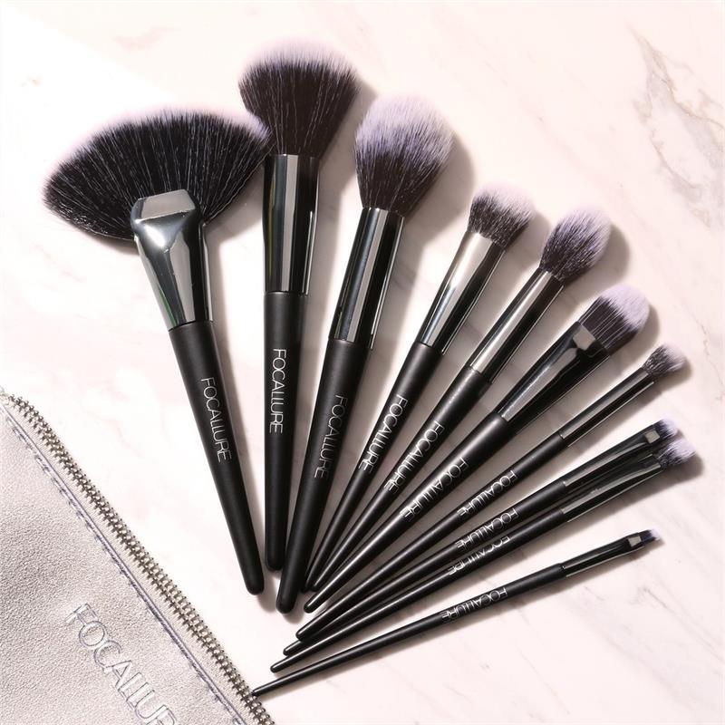 10Pcs Pincéis de Maquiagem Profissional Cosméticos Make Up Brush Set Top Quality Maquiagem Profissional Completa