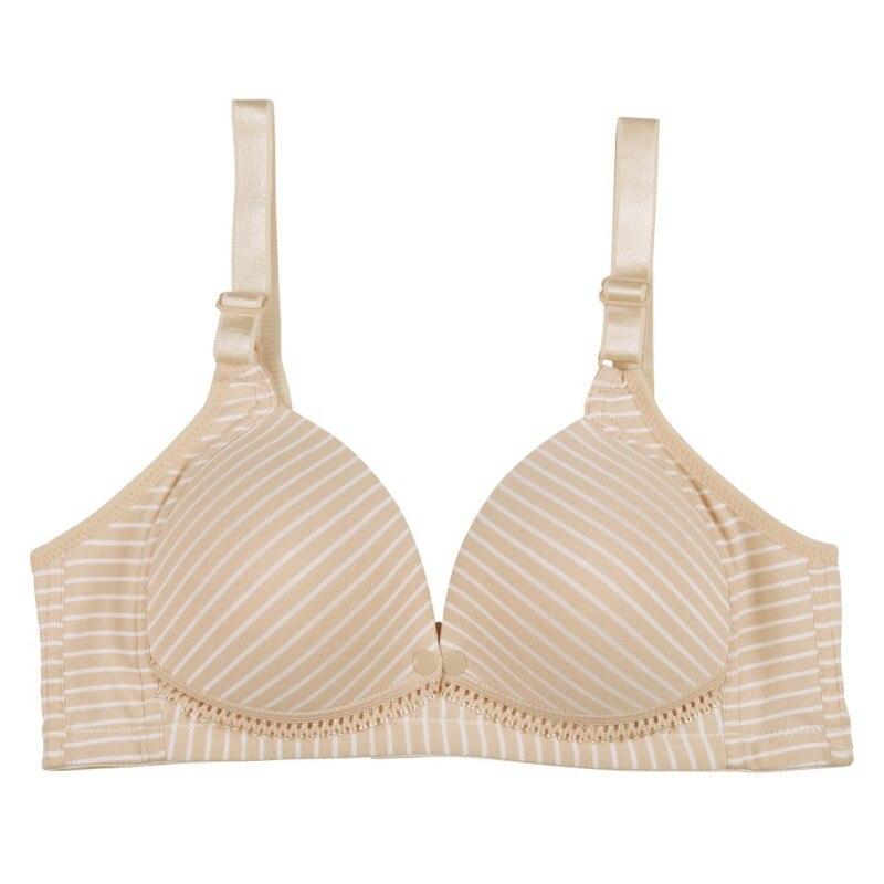 New Striped Maternity Bra Cotton Front Closure Breastfeeding Bra Seamless Push Up Brassiere Women Underwear Nursing Bra