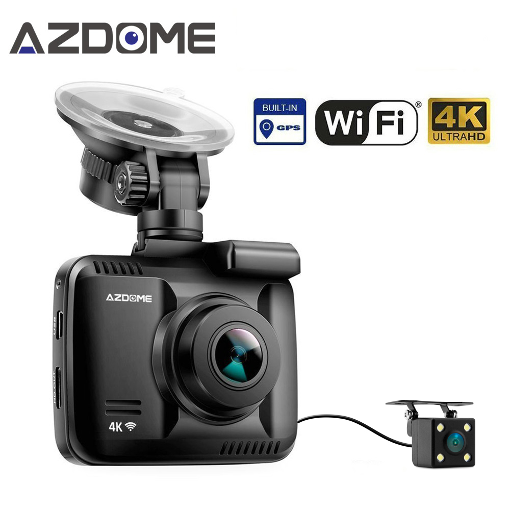 Azdome GS63D Двойной объектив Wi-Fi FHD 1080P спереди + VGA сзади автомобиля Dashcam Камера 2160 P регистраторы Новатэк 96660 GS63H построен В gps