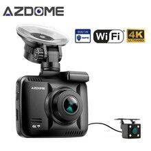Azdome GS63D Dual Lens WiFi FHD 1080P Front + VGA Rear Car Dashcam Camera 2160P Dash Cam Novatek 96660 GS63H Built in GPS