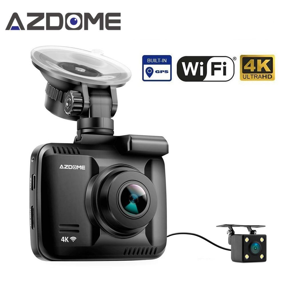 Azdome GS63D lente Dual WiFi FHD 1080 p Front + VGA trasera Cámara Dashcam 2160 P Dash Cam Novatek 96660 GS63H construido en GPS