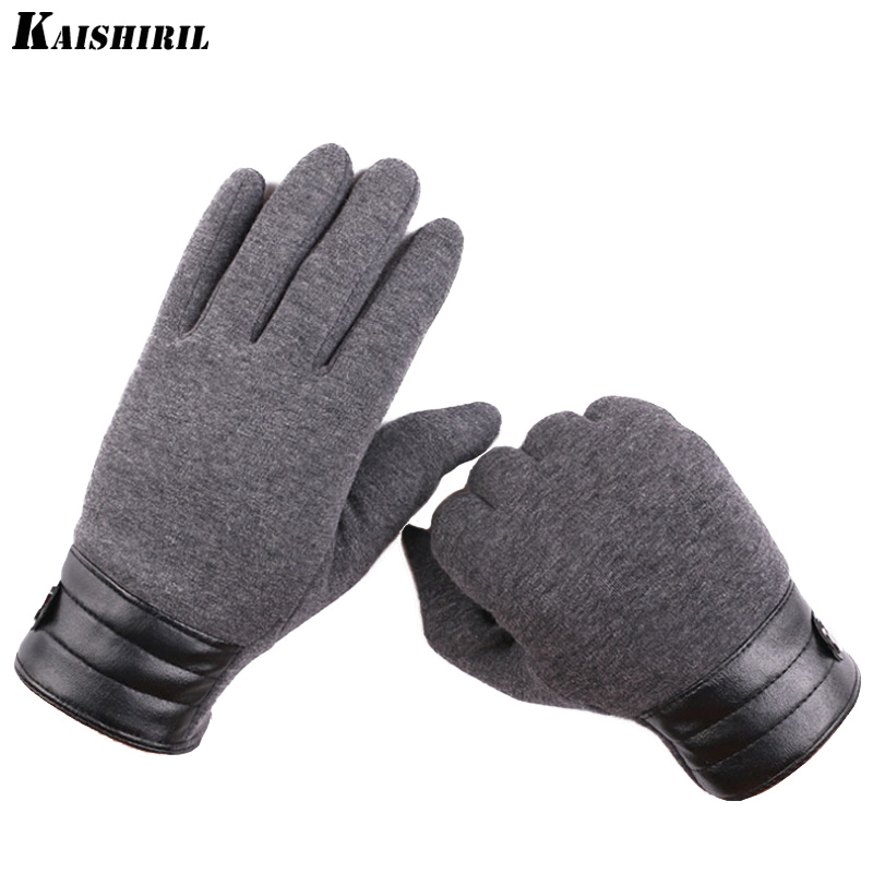 Men's Gloves Fashion Warm Touch Screen Wool Winter Gloves Women Men Warm For Mobile Phone Blue Black White Gray