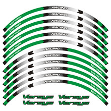 Motorcycle Reflective 17 inch Wheel Rim Stripe Decal Sticker Front Rear Decal Full Set For KAWASAKI Versys650 Versys10 for aprilia mv agusta yamaha kawasaki honda bmw 848 1098 gsxr wheel sticker decal reflective rim motorcycle suitable for 17 inch