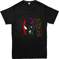 Spiderman T Shirt, Goblin Face spoof T Shirt, Inspired Design Top2019 fashionable Brand 100%cotton Printed Round Neck T shirts c
