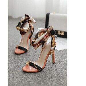 Image 4 - Luxus Schuhe Frauen Designer High Heels Riband Sandalen 2019 Party Lässig Elegante Damen Schuhe