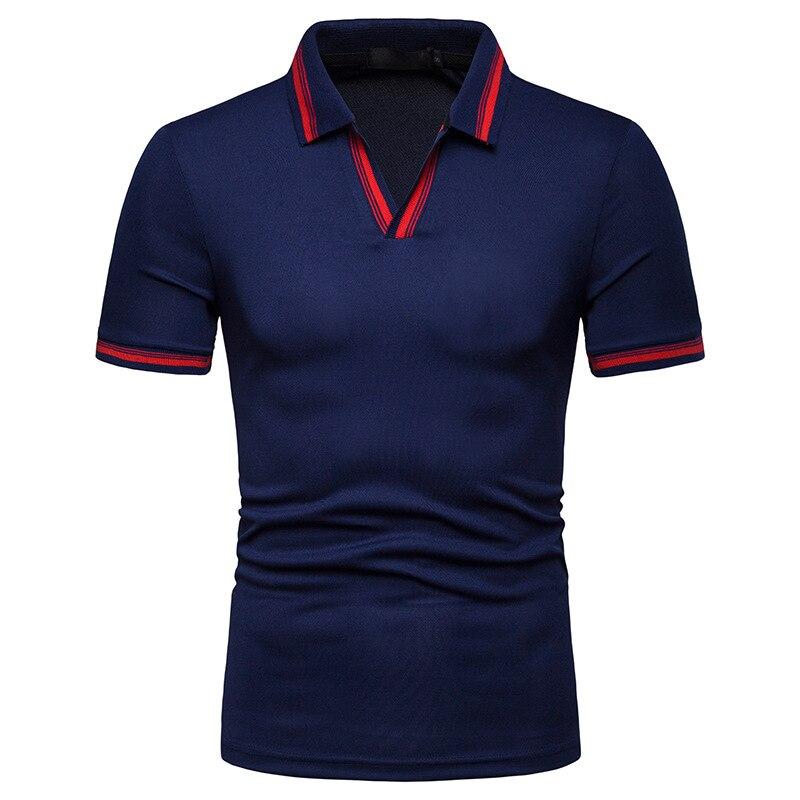 Dropping Modis Clothes Male Polos Casual V-Neck Short Sleeve Polo Shirt Men Streetwear