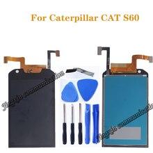 Pour laffichage à cristaux liquides de Caterpillar CAT S60, 4.7 pouces avec lassemblage décran de remplacement de composant de numériseur décran tactile